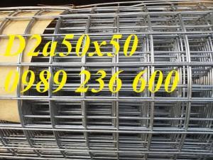 Lưới Thép Hàn D2 A 50X50 Khổ 1Mx30M, 1.2Mx30M. Hàng Có Sẵn Giá Rẻ Tại Hà Nội