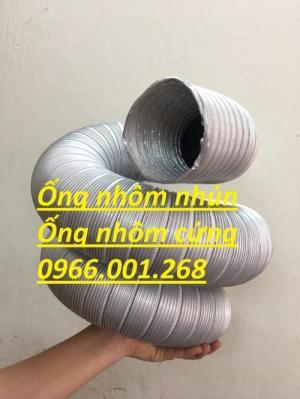 Ống nhôm nhún,ống nhôm cứng chịu nhiệt cao phi 100,phi 125,phi 150,phi 200