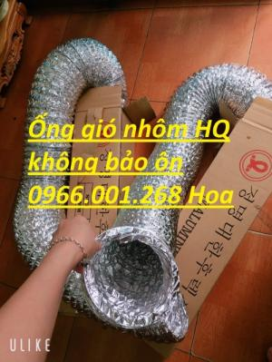 Ống gió mềm nhôm Hàn Quốc cuộn dài 10m D100,D125,D150,D200,D250,D300 giá rẻ