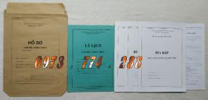 Bán hồ sơ công chức dùng cho cán bộ công chức