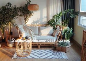 Băng ghế sofa mây tự nhiên, ghế sofa phòng khách