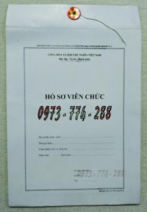 Bìa hồ sơ viên chức