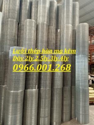 Lưới thép hàn mạ kẽm dây 2ly ô 25x25,2.5 ly ô 35x35,3ly ô 50x50,4ly ô 50*50
