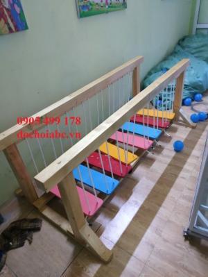 Bộ cầu giữ thăng bằng cho các khu vui chơi tại đà nẵng, thiết bị mầm non