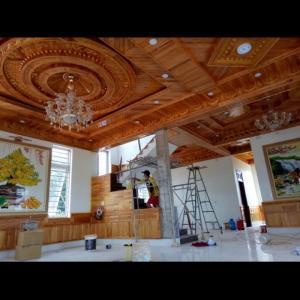 Chuyên thi công trần gỗ