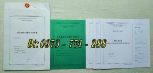 Bộ hồ sơ viên chức đầy đủ các loại mẫu