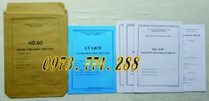 Trọn bộ mẫu Hồ sơ Công Chức, Viên Chức