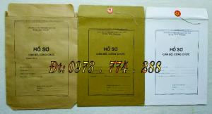 Túi hồ sơ cán bộ công chức