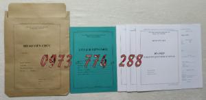 Bán bộ hồ sơ viên chức Thông tư số 07/2019/TT-BNV ngày 01/6/2019 của Bộ Nội vụ quy định