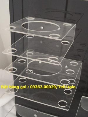 Cung cấp các mẫu khay mica đựng mỹ phẩm , kệ đựng nail treo tường giá rẻ
