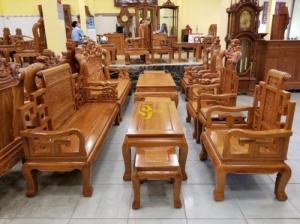 Bộ bàn ghế sơn thuỷ gỗ cao cấp