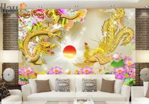 Tranh rồng phượng - gạch tranh 3d