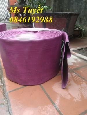 Ống bạt PVC hút nước màu xanh, hút cát màu vàng, tải sỏi màu tím