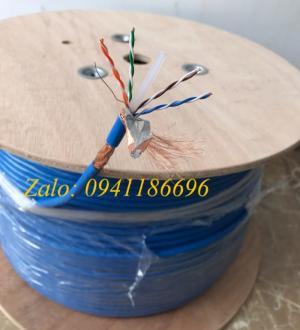 Cáp mạng Cat7 S/FTP hãng TE-KRONE sợi đồng bọc lưới đồng chống nhiễu