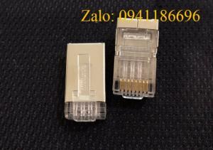 Hạt mạng Sắt C5/C6 chống nhiễu Shielded 8 Position Modular Plug mã 6-569550-3