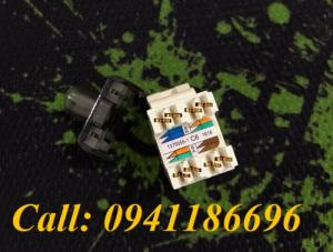 Nhân mạng Cat6 Commscope/AMP RJ45 mã 1375055-1 MODULAR JACK CommScope