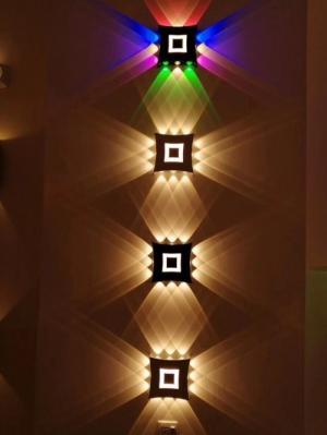 Đèn vách hắt tường COB chiếu 4 đầu ( 4x12w)