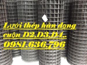Sản xuất lưới thép hàn dạng cuộn d2,d3,d4,d5 giá tốt nhất