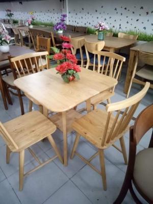 Bàn ghế gỗ tự nhiên nguyên khối
