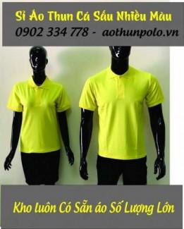 Chuyên sỉ áo thun cá sấu màu vàng chanh giá rẽ - hàng có sẵn số lượng lớn