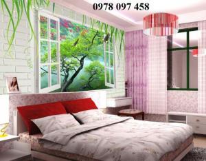 Tranh 3D trang trí phòng ngủ