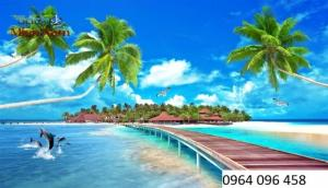 Tranh 3d cảnh biển - 67FG