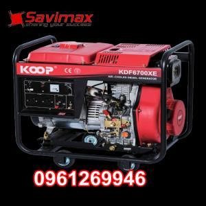 Máy phát điện chạy dầu 5kva KOOP 6700X giật tay giá tốt nhất toàn quốc