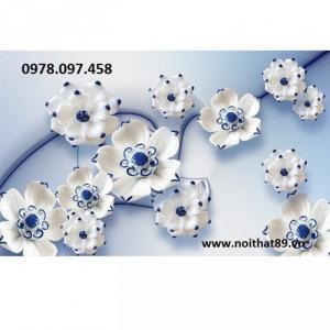 Tranh gạch 3D - tranh hoa