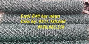 Lưới B40 bọc nhựa ô50x50, ô60x60, ô70x70,....