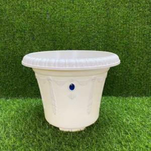 Chậu hoa nhựa Thakico  - Chậu Ngọc 28x21cm - màu trắng