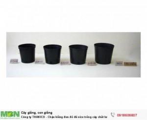 Công ty THAKICO - Chậu kiểng đen đỏ đủ size trồng cây chất lượng, giá rẻ