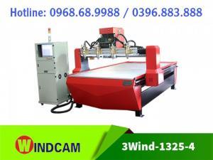 Máy đục gỗ 4 đầu | Máy CNC 1325-4 | Máy CNC khắc gỗ đa năng