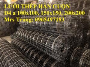 Lưới thép hàn cuộn D4 a 100x100, a 150x150, a 200x200 đổ bê tông, đổ sàn
