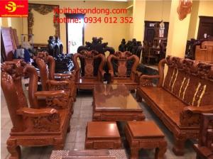 Bộ bàn ghế minh quốc đào chim gỗ gõ đỏ tay 14
