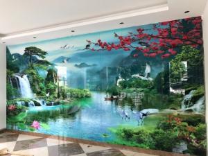 Bộ sưu tập sản phẩm tranh gạch men mẫu tranh phong cảnh treo phòng khách