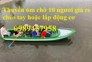Thuyền composite chở 8-10 người 6m giá rẻ