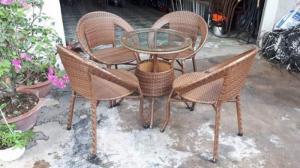 Bàn ghế cafe ghế mây nhựa thanh lý giá rẻ..