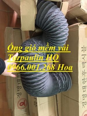 Ống gió mềm vải Tarpaulin phi 100,phi 150,phi 200,phi 250,phi 300,phi 350