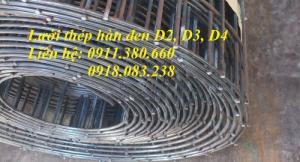 Lưới thép hàn đen dây 2ly, 3ly, 4ly. Hàng có sẵn