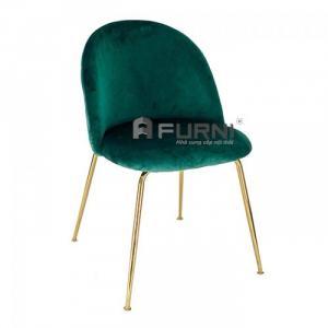 Ghế phòng ăn bọc vải nhung chân sắt mạ màu gold Velvet B-F