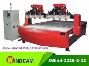 Máy khắc CNC 8 đầu | Máy khắc phù điêu CNC | Máy khắc gỗ CNC