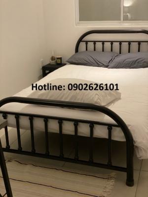 Giường sắt giá rẻ bảo hành 1 năm