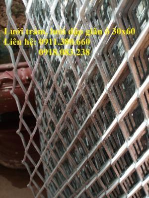 Lưới trám, lưới dập giãn dây 3ly, ô 30x60 hàng có sẵn