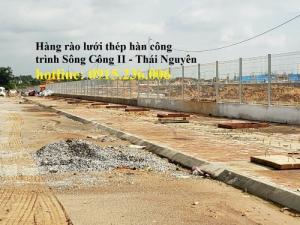 Thi công hàng rào lưới thép tại công trình Sông Công II - Thái Nguyên