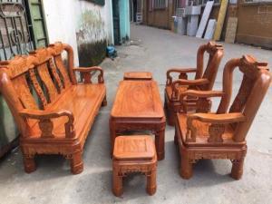 Bộ Bàn Ghế Minh Quốc Triện gỗ hương đá