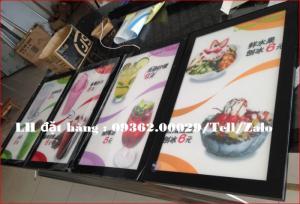 Biển menu thực đơn quán trà sữa gắn đèn led siêu mỏng giá rẻ
