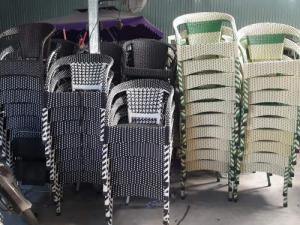 Thanh lý 300 cái ghế nhựa giả mây bảo hành 12 tháng..