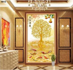 Tranh cây tiền vàng 3d - 67T