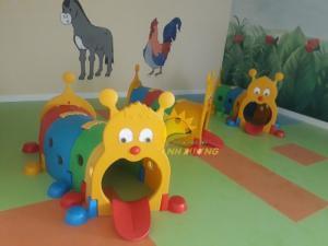 Đồ chơi hang chui vận động hình con cú mèo cho trẻ em mầm non