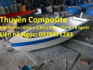 Cung cấp thuyền Composite  (có thể gắn máy ngoài 8HP – 25 HP)